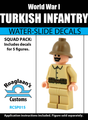 World War I Turkish Infantry Squad Pack - Water-Slide Decals