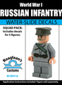 World War I Russian Infantry Squad Pack - Water-Slide Decals