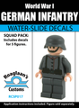World War I German Infantry Squad Pack - Water-Slide Decals