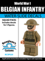 World War I Belgian Infantry Squad Pack - Water-Slide Decals