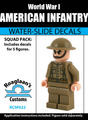 World War I American Infantry Squad Pack - Water-Slide Decals