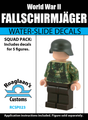 World War II German Fallschirmjger Squad Pack - Water-Slide Decals