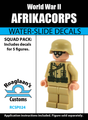 World War II German Afrikacorps Squad Pack - Water-Slide Decals