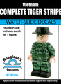 Vietnamese Tiger Stripe Complete Minifig Set - Water-Slide Decals