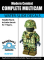 Multicam Complete Minifig Set - Water-Slide Decals