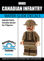 World War II Canadian Infantry - Water-Slide Decals