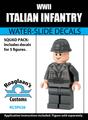 World War II Italian Infantry - Water-Slide Decals