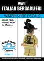 World War II Italian Bersaglieri - Water-Slide Decals