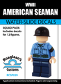 World War II American Seaman - Water-Slide Decals