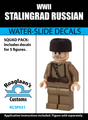 World War II Stalingrad Russian - Water-Slide Decals