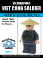 Vietnam War Viet Cong Soldier - Water-Slide Decals