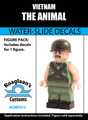Vietnam War M60 Gunner Complete Minifig Set - Water-Slide Decals