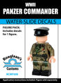 World War II Panzer Commander Complete Minifig Set - Water-Slide Decals