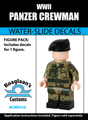World War II Panzer Crewman Complete Minifig Set - Water-Slide Decals