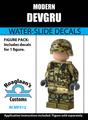 Modern Combat DEVGRU Complete Minifig Set - Water-Slide Decals