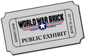 World War Brick 2014 Public Exhibit Advance Ticket