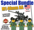 M1 40mm Anti-Aircraft Gun + 3 US Marines Bundle