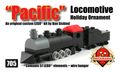 Pacific Locomotive Holiday Ornament