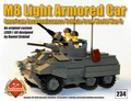 "M8 ""Greyhound"" 6x6 Light Armored Scout Car - OLD DARK GRAY"
