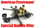 M1 40mm Anti-Aircraft Gun + 3 US Paratroopers Bundle