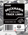 Brickmania Track Links™ - Chevron Double Wide - Black - x100