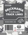 Brickmania Track Links™ - Chevron Double Wide - Steel - x100