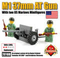 M1 37mm Anti-Tank Gun with Two US Marines Minifigs