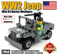 WW2 Jeep with US Marine Minifig