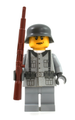 World War II German Soldier - Light Gray - with Field Jacket and Rifle