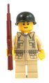 World War II US Soldier with Field Jacket and M1 Garand Rifle