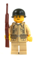 World War II US Soldier with Field Jacket and M1 Carbine