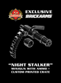 "BrickArms ""Night Stalker"" Minigun with Bullet Chain and Crate"