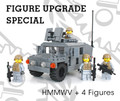 M1025 HMMWV - Dark Gray  + BONUS FIG PACK