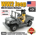 WW2 Jeep with US Infantry Minifig