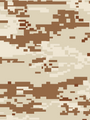 Desert Digital Camouflage Card - Water-Slide Decals