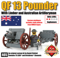 QF 13 Pounder with Limber and Australian Artilleryman