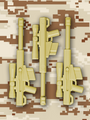 HCSR Bundle - 3 Tan HCSRs and Desert Digital Camo Card - Water-Slide Decal