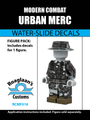 Urban Camo Mercenary Complete Minifig Set - Water-Slide Decals