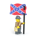 Civil War Confederate Soldier with Battle Flag