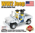 WW2 Jeep with 2 US Navy Minifigs Battle Pack
