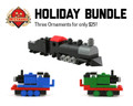 Holiday Train Ornament Bundle
