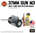 M3 37mm Anti-Tank Gun with US Rifleman Minifig