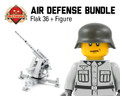 Air Defense Bundle: 8.8cm Flak 36 Anti-Aircraft Cannon + Crewman