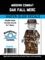 Oak Fall Camo Mercenary Complete Minifig Set - Water-Slide Decals