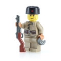 Megaton Custom Printed WWII Russian Soldier with Citizen Brick Ushanka