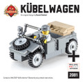 Kübelwagen (Dark Gray) - German Utility Vehicle with Minifig