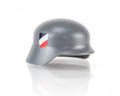 Custom BrickArms Dark Grey Stahlhelm w/ Two Sided 4 Color Wehrmacht Print