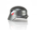Custom BrickArms Gunmetal Stahlhelm w/ Two Sided 4 Color Wehrmacht Print