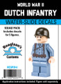 World War II Dutch Infantry - Water-Slide Decals