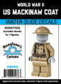 World War II Mackinaw Coat - Squad Pack- Water-Slide Decals